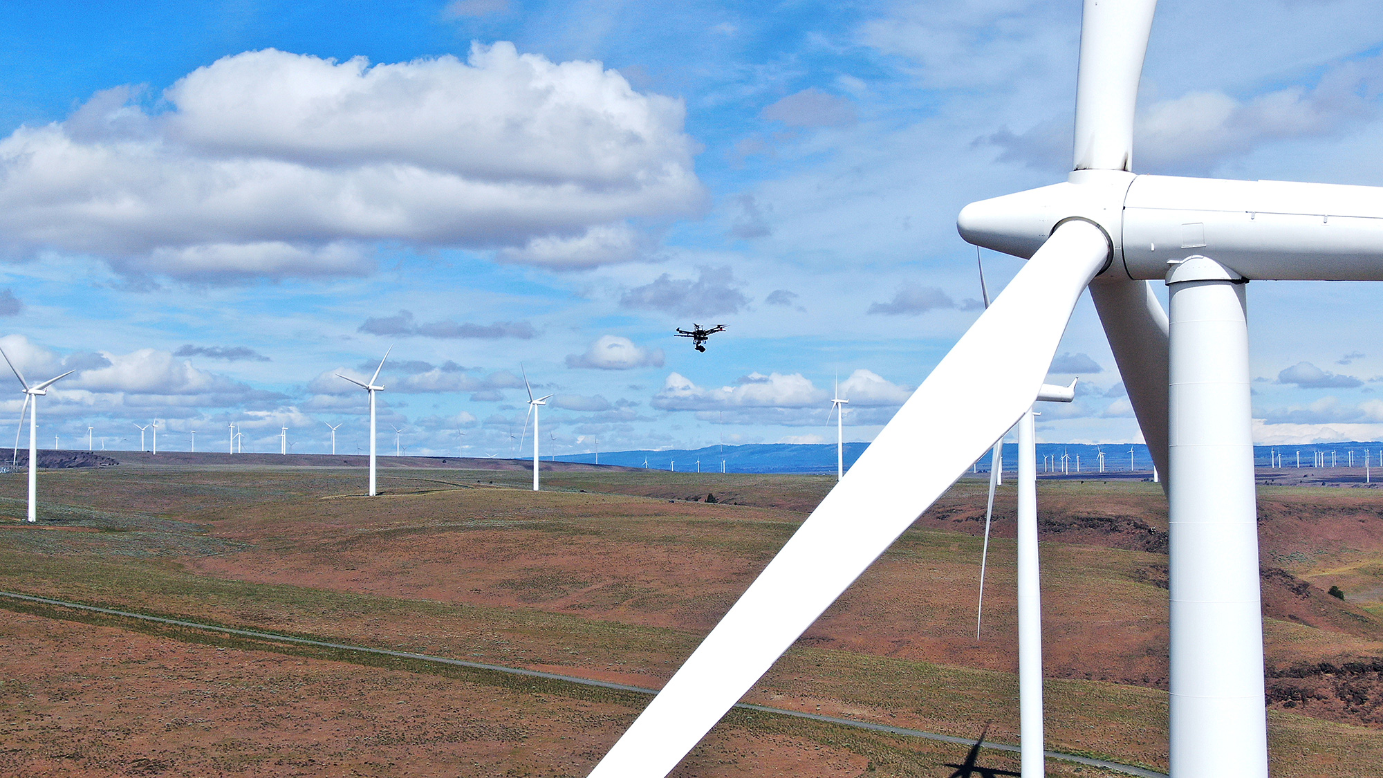 Copyright Action Drone Wind Turbine Inspection